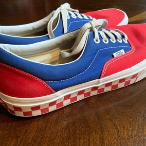Vans royal blue and red sneakers size 10 GUC